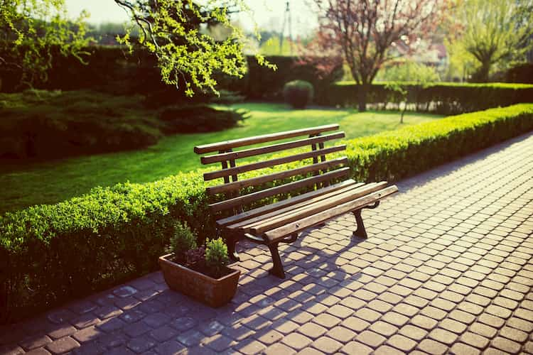 bancos madera jardin baratos